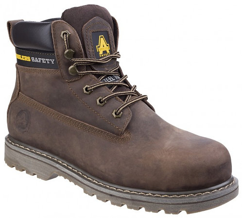 FS164 Goodyear Welted Lace up Industrial Safety Boot