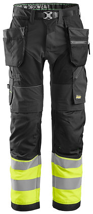 6931 FlexiWork, High-Vis Work Trousers Holster Pockets+ CL1