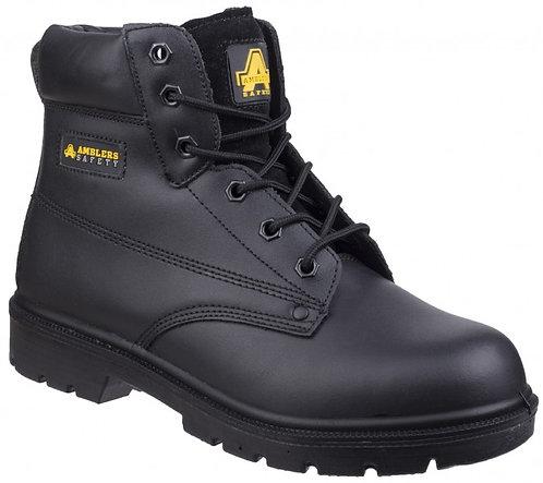 FS159 Black 6-eyelet Pad Top Boot