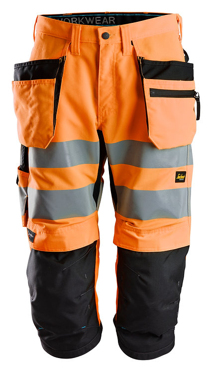 6134 LiteWork, High-Vis Pirate Trousers+ Holster Pockets CL 2