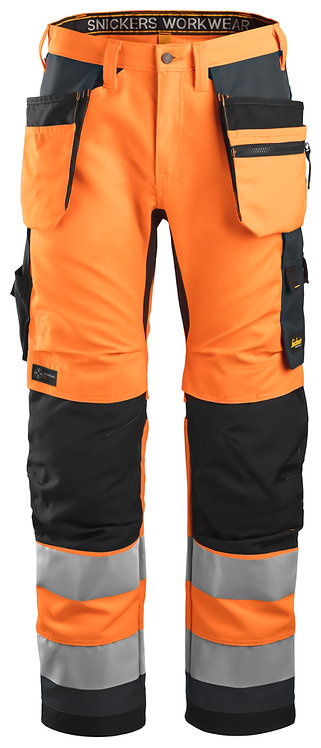 6230 AllroundWork, High-Vis Work Trousers Holster Pockets+ CL2