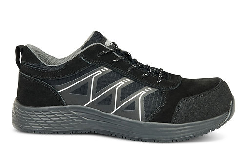 VENUS Black Non- Metallic Lightweight Sports Trainer