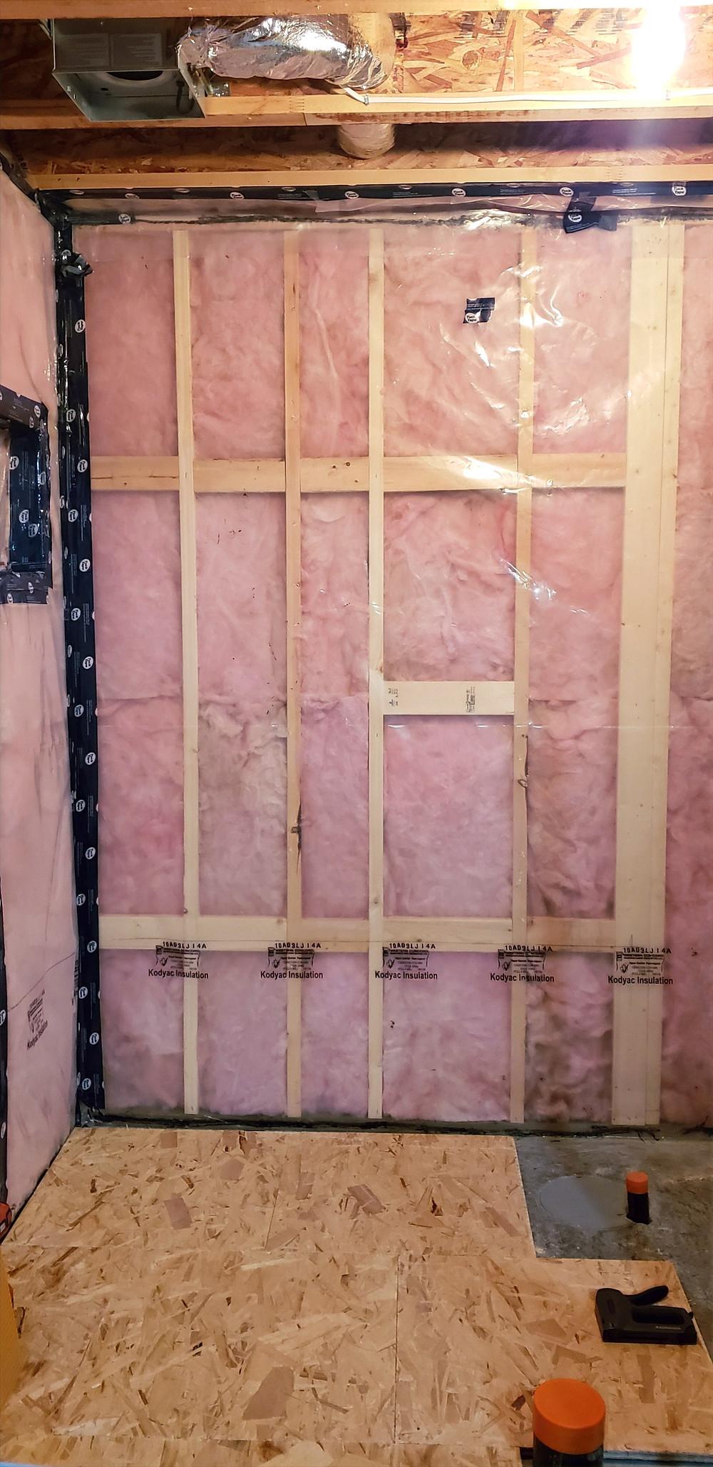 Basement development | rough-in plumbing | Dricore subfloor