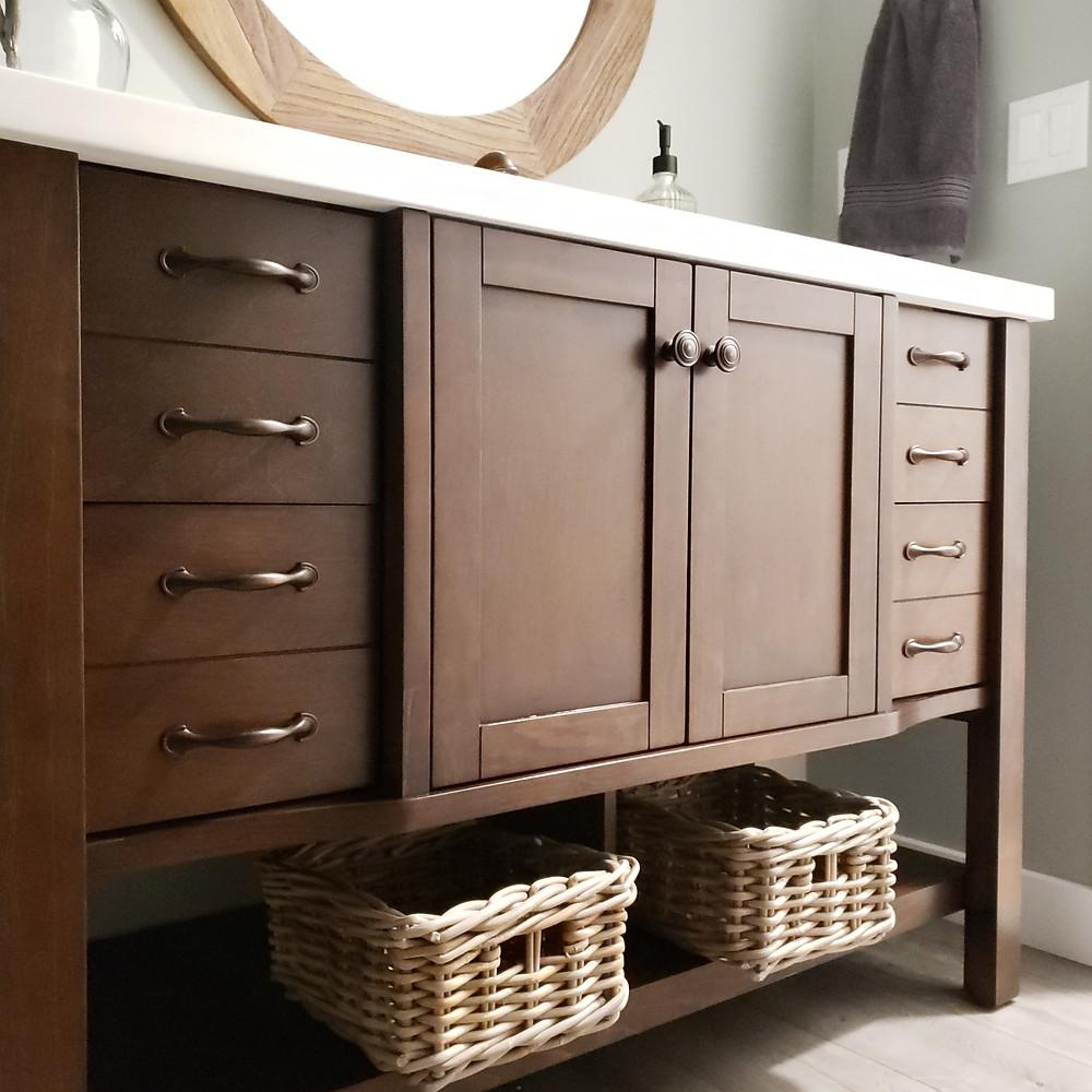 bathroom vanity | basement remodel