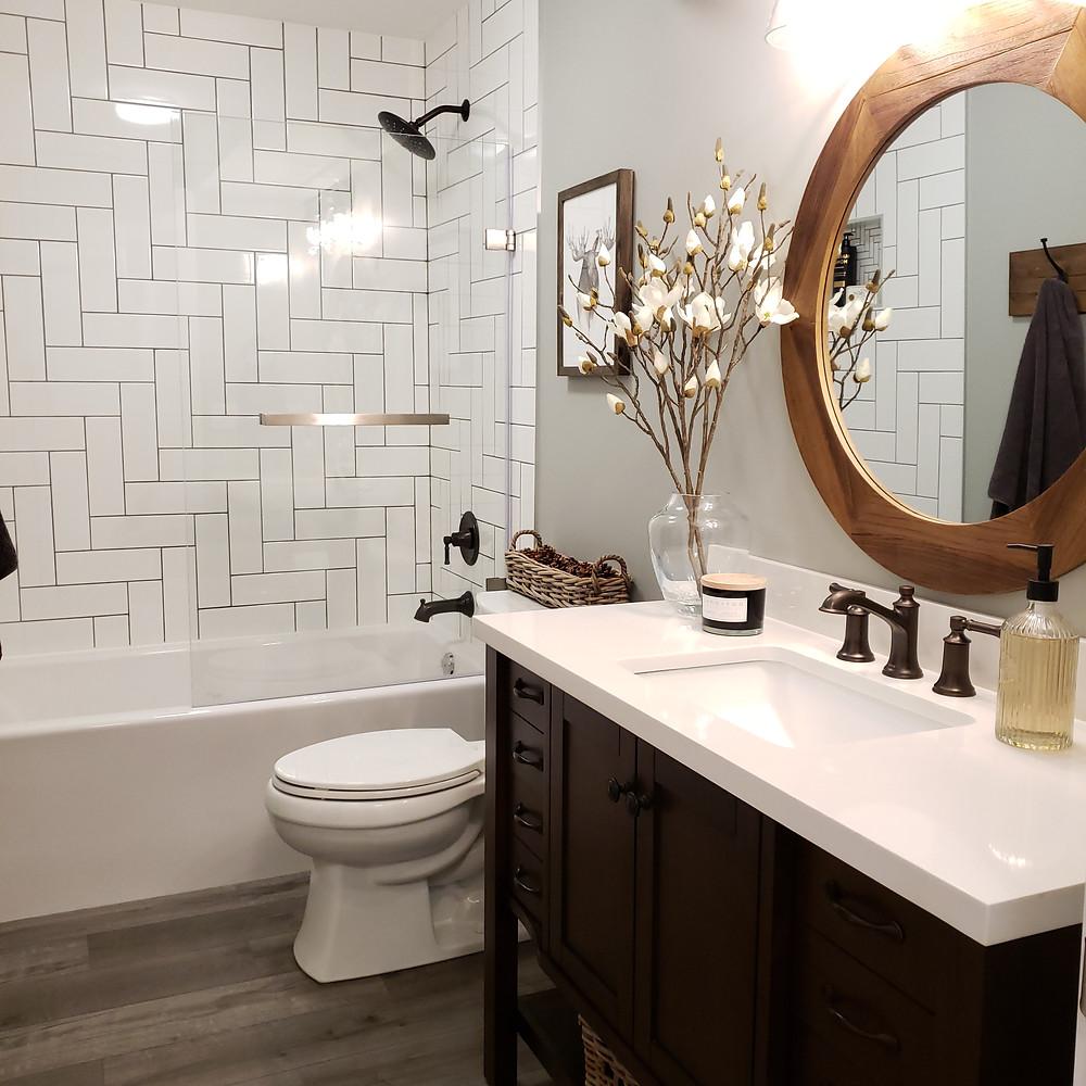 Finished basement bathroom | DIY project | renovation | home decor
