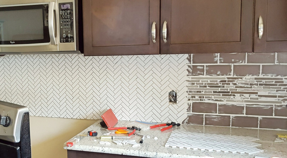 Tiling over existing tile | DIY project | kitchen renovation