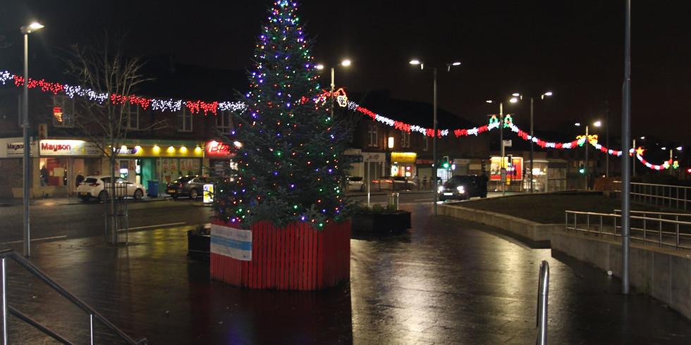 Halfway Christmas Lights Switch On