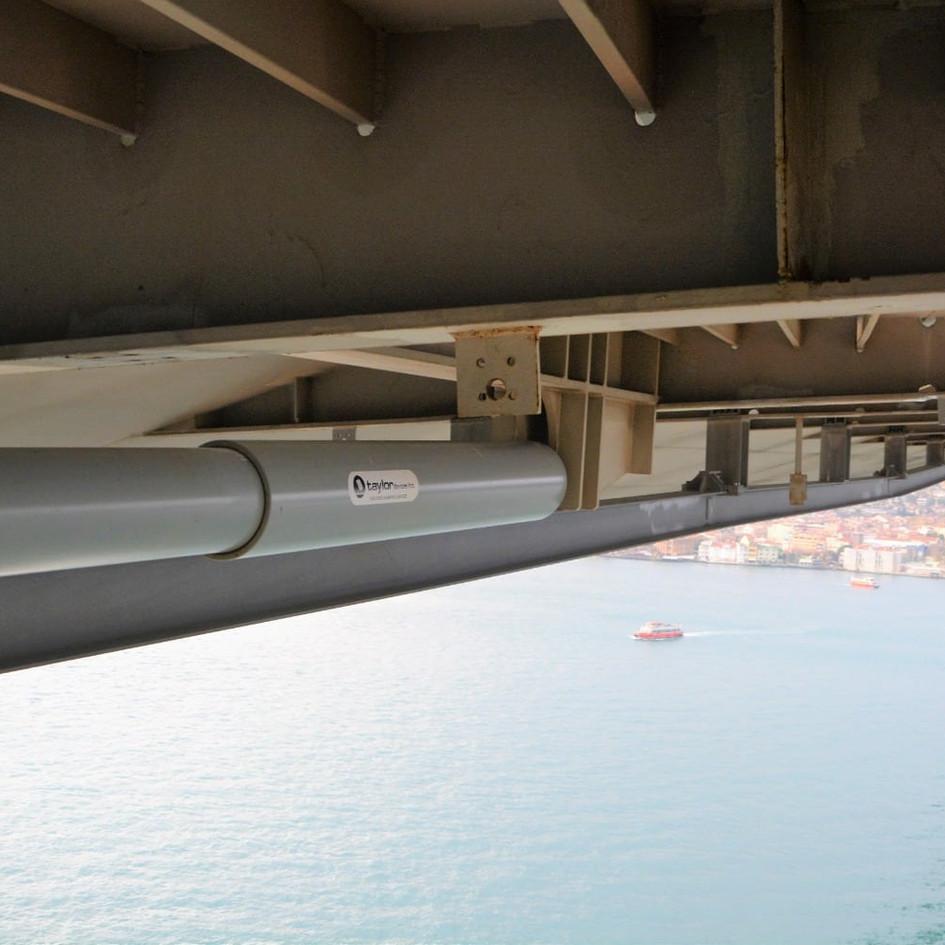 Bosphorus Bridge Seismic Viscous Damper Installation