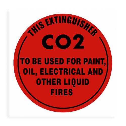 Fire Extinguisher ID Sign CO2