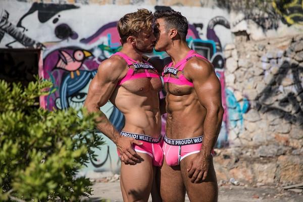 STUD Men Pink Harness