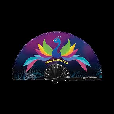 Peacock Clack Fan (UV Glow)