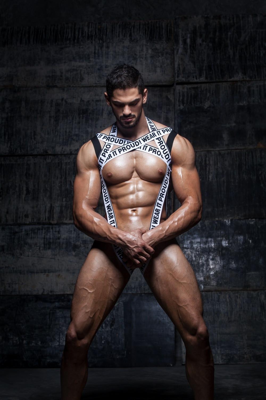 Gay Men Elastic Body Harness