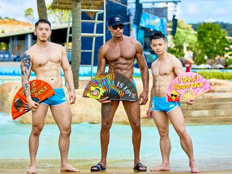 The Gay Circuit Party Folding Fan