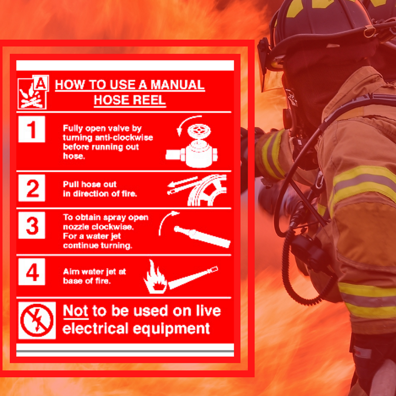 how to use fire hose reel