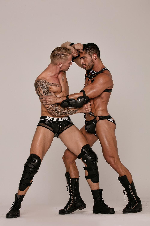 Gay Men Bondage Harness Jockstrap