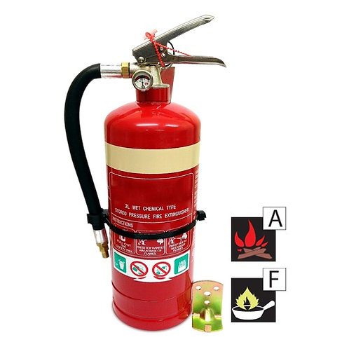 2 Wet Chemical Fire Extinguisher
