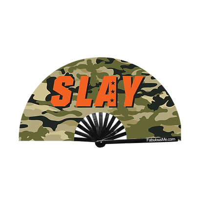 Military Slay Fan Green (UV Glow)