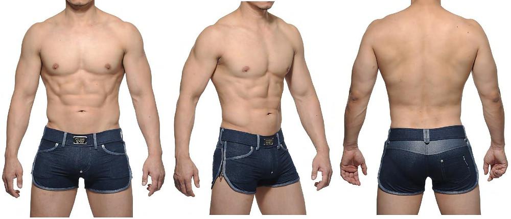 gay sexy denim shorts