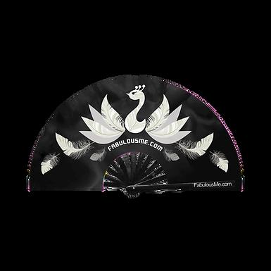 Peacock Clack Fan (Black & White)