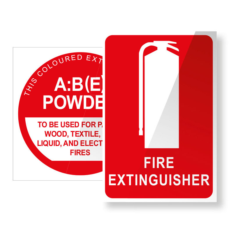 Dry Chemical Powder ABE Fire Extinguisher Sign