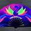UV Glow Gay Circuit Party Hand Fan