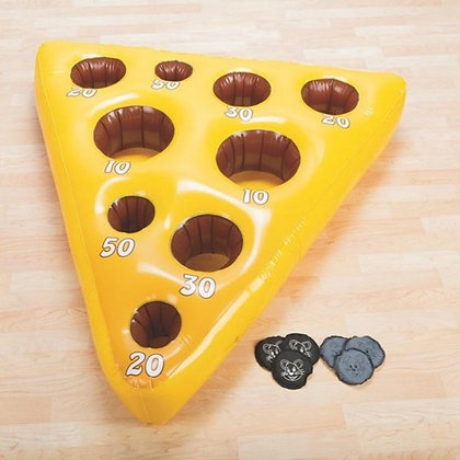 Inflatable Cheese & Mouse Toss Game