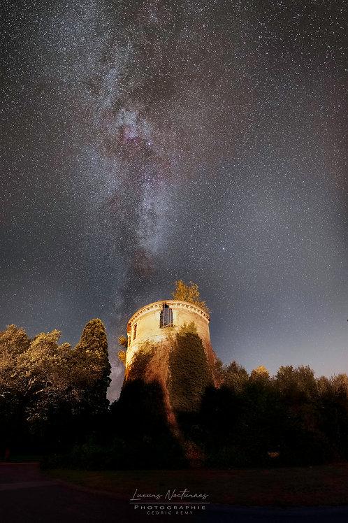 La tour du château de Beauraing 65cm x 100cm