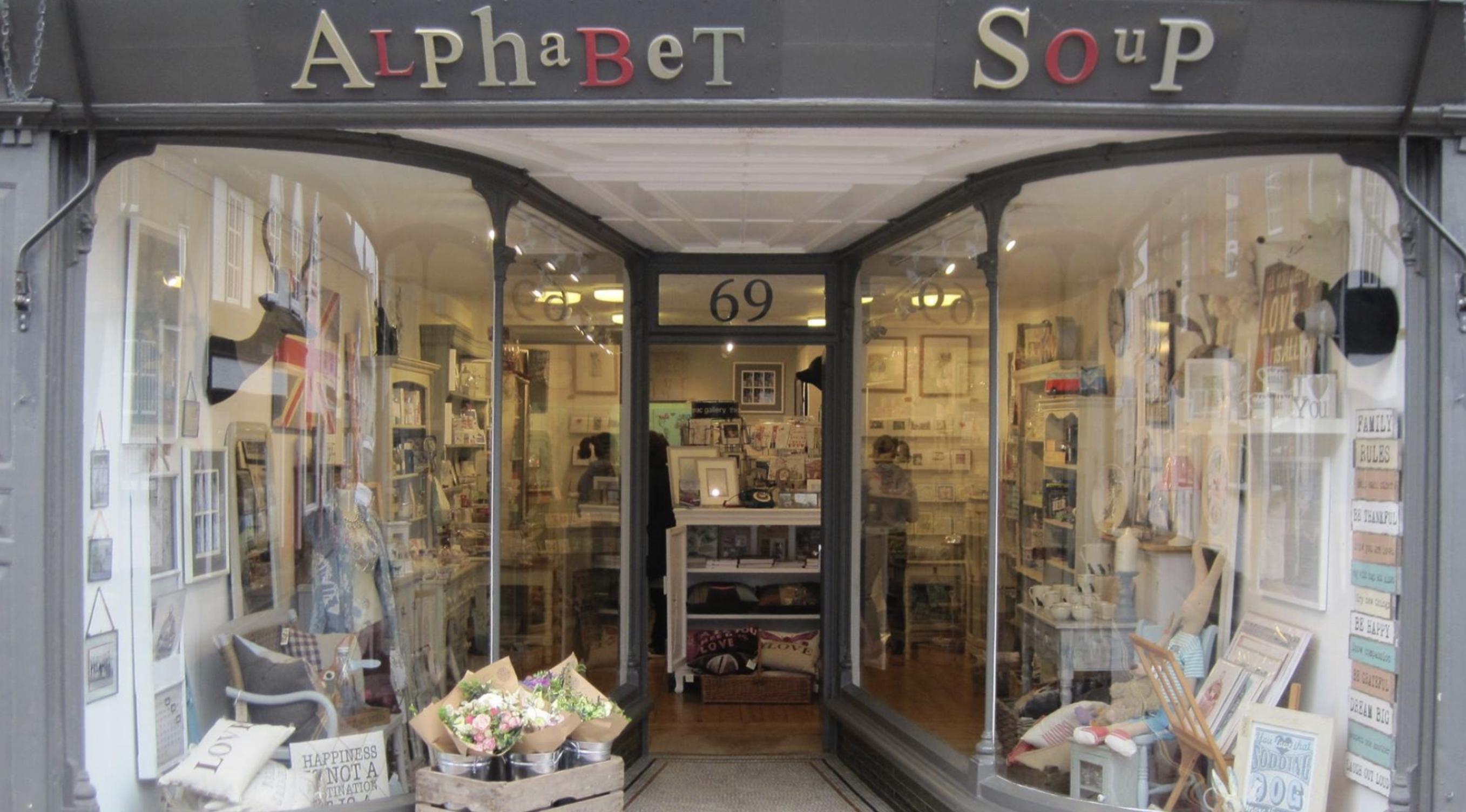 Chilterns Gift Shop Alphabet Soup