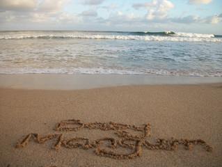 Baby Names in Sand on Hawaiian Beach