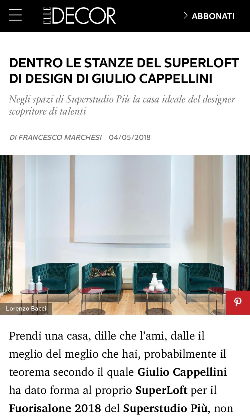 Elle Decor | Laguna for Cappellini