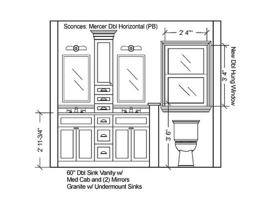 Master Bath Vanity Elevation - SC