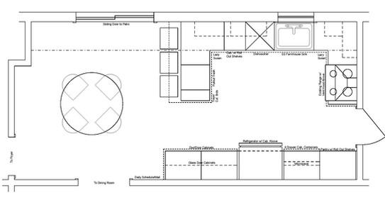 New Kitchen Floorplan - Peninsula