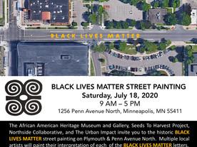 HISTORIC BLACK LIVES MATTER STREET PAINTING