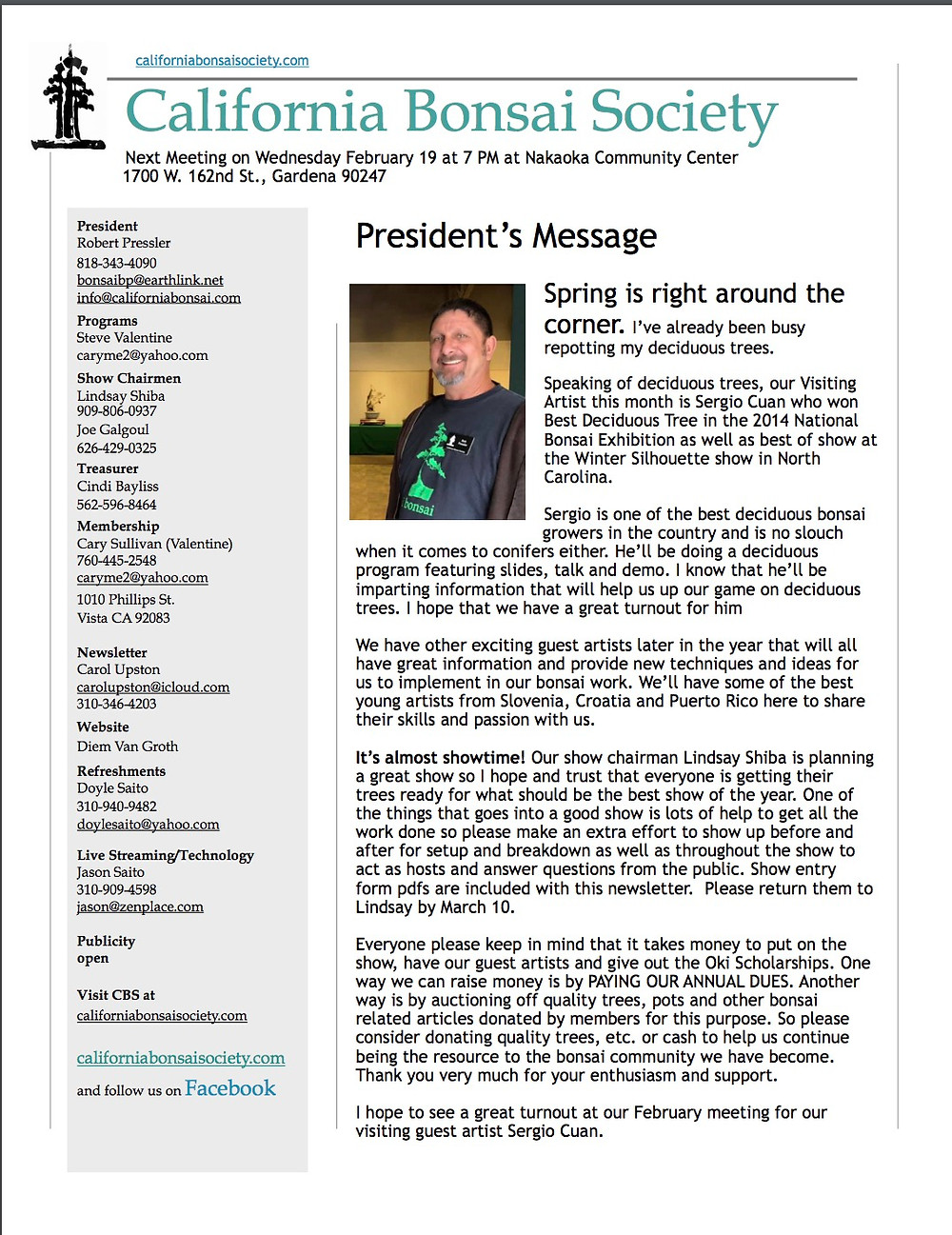 e newsletter Front Page