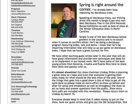 CBS Feb_March 2020  e newsletter