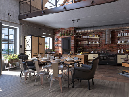 Знаковый этап. Уникальная кухня в стиле лофт.