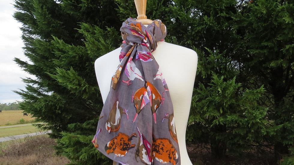Finch scarf gray
