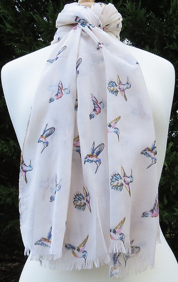 Hummingbirds in Cream