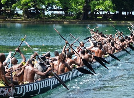 Four canoes of Papua New Guinea