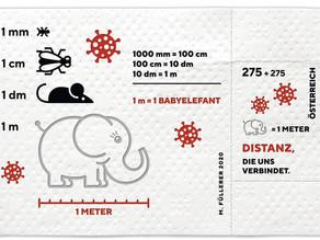 Un sello de papel higiénico