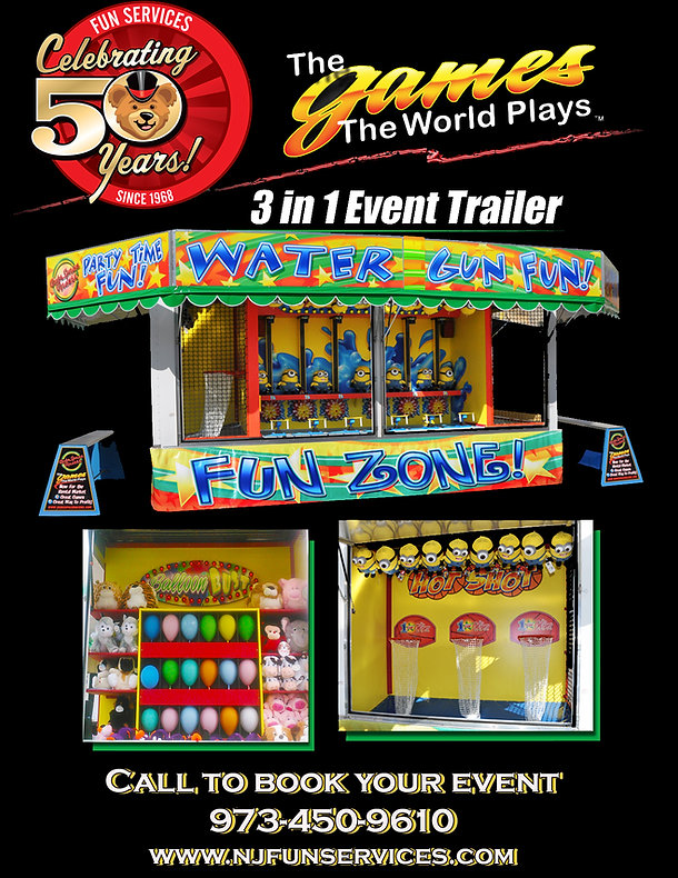 3 in 1 Event Trailer flyer  with address