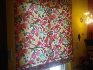 Tenda in cotone con motivo floreale elegante