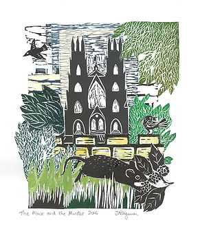 The Mousde and the Minster. Collage_