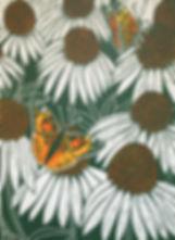 Butterflies_Hand painted lino cut print