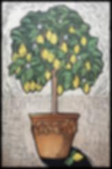 The Lemon Tree (hand coloured linocut pr