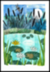 The Lily Pond (collage)