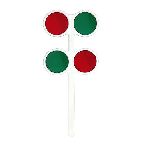 4-Lens Red/ Green Flipper Set