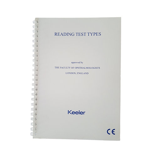 Washable Reading Test Types Book