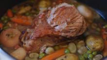 Recette de printemps : palette de porc aux légumes nouveaux !