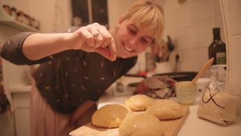 Délicieux burgers aux petits pains faits maison